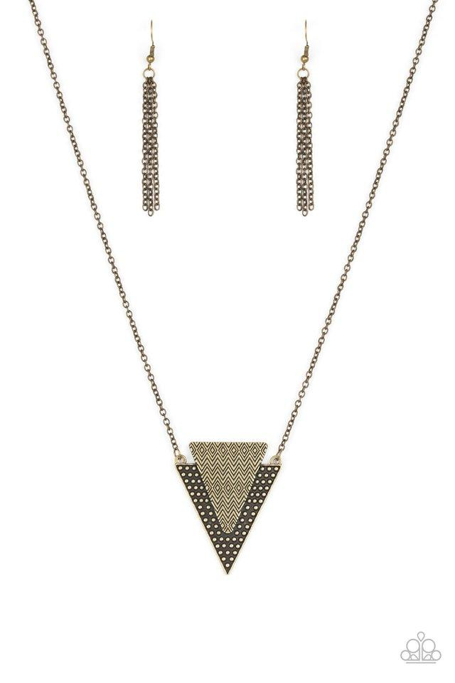 Paparazzi Accessories ~ Ancient Arrow - Brass