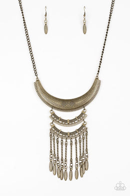Eastern Empress - Brass - Paparazzi Necklace Image