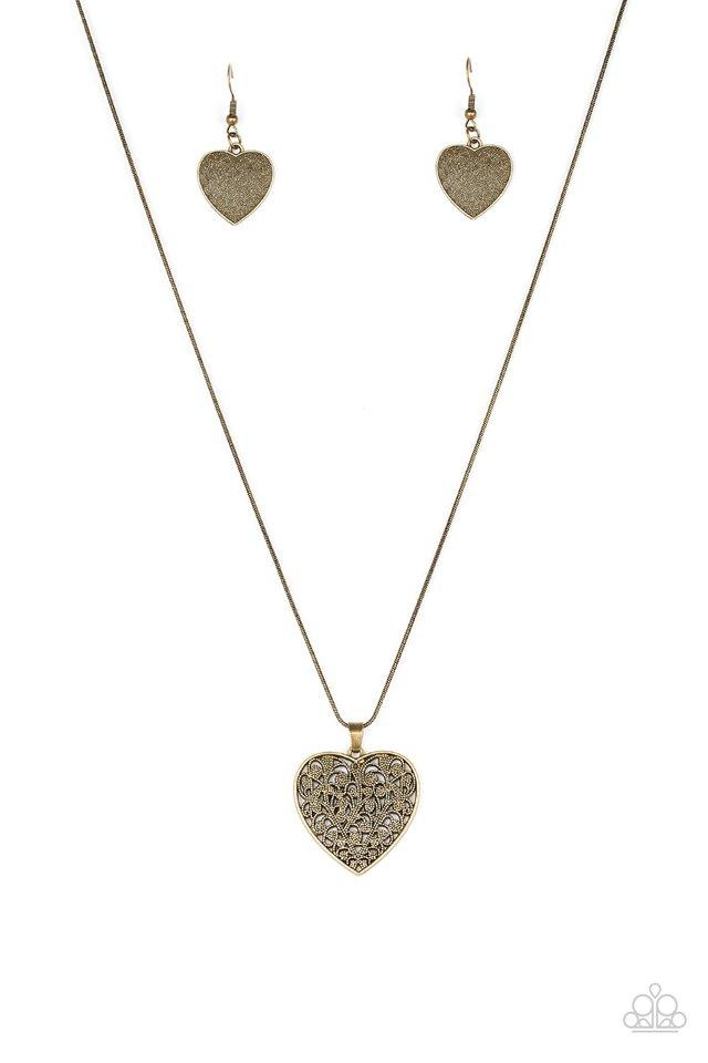 Paparazzi Accessories ~ Look Into Your Heart - Brass