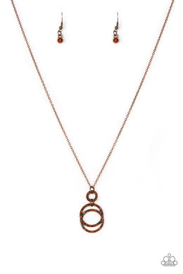 Timeless Trio - Copper - Paparazzi Necklace Image