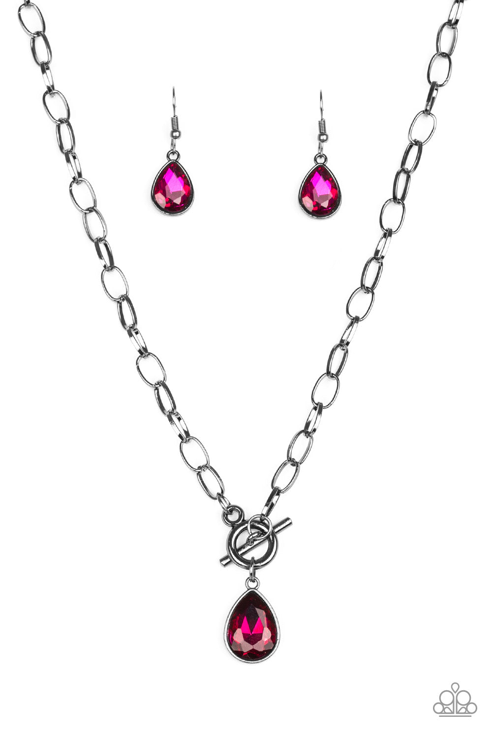 Paparazzi Necklace ~ So Sorority - Pink