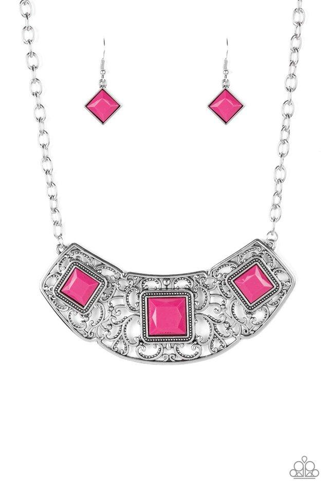 Paparazzi Accessories ~ Feeling Inde-PENDANT - Pink