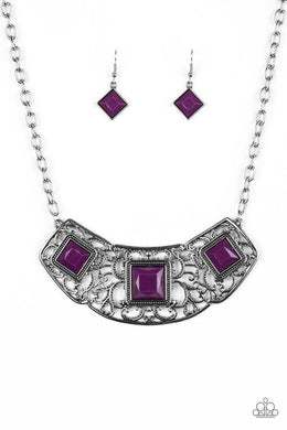 Feeling Inde-PENDANT - Purple - Paparazzi Necklace Image