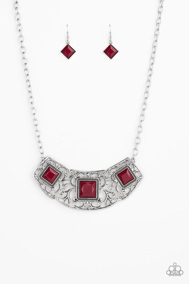 Paparazzi Accessories ~ Feeling Inde-PENDANT - Red