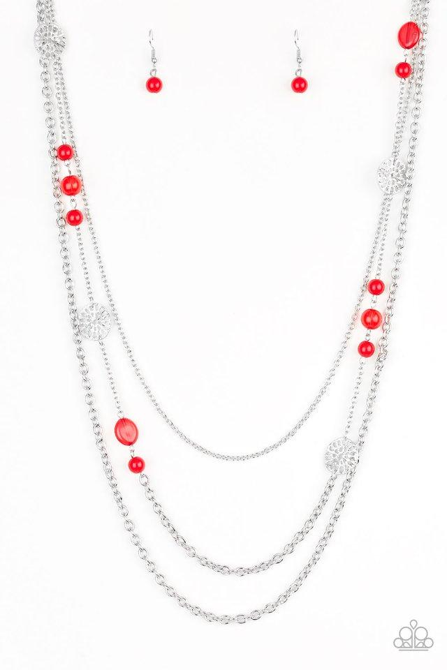 Paparazzi Necklace PREORDER ~ Pretty Pop-tastic! - Red