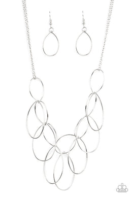 Top-TEAR Fashion - Silver - Paparazzi Necklace Image