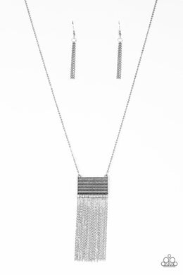 Totally Tassel - Silver - Paparazzi Necklace Image