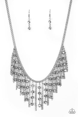 Rebel Remix - Silver - Paparazzi Necklace Image