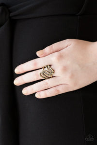 Make Waves - Brass - Paparazzi Ring Image