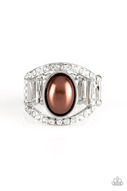 Radiating Riches - Brown - Paparazzi Ring Image