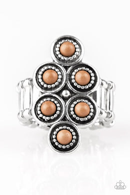 River Rock Rhythm - Brown - Paparazzi Ring Image