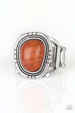 Out On The Range - Orange - Paparazzi Ring Image