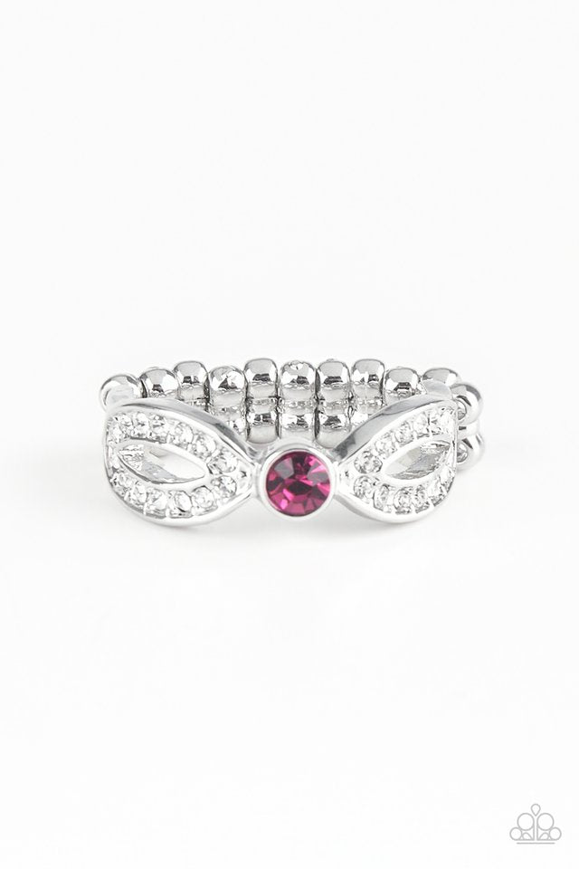 Paparazzi Ring ~ Extra Side Of Elegance - Pink