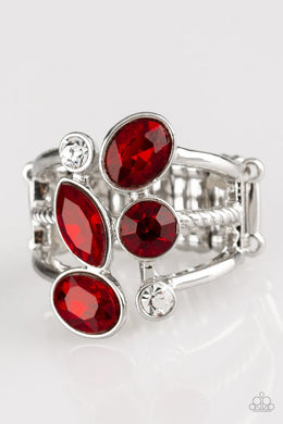 Metro Mingle - Red - Paparazzi Ring Image
