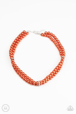 Put On Your Party Dress - Orange - Paparazzi Necklace Image