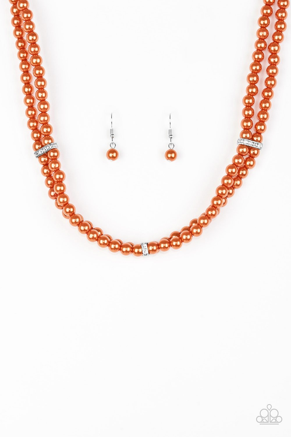 Paparazzi Accessories ~ Put On Your Party Dress - Orange