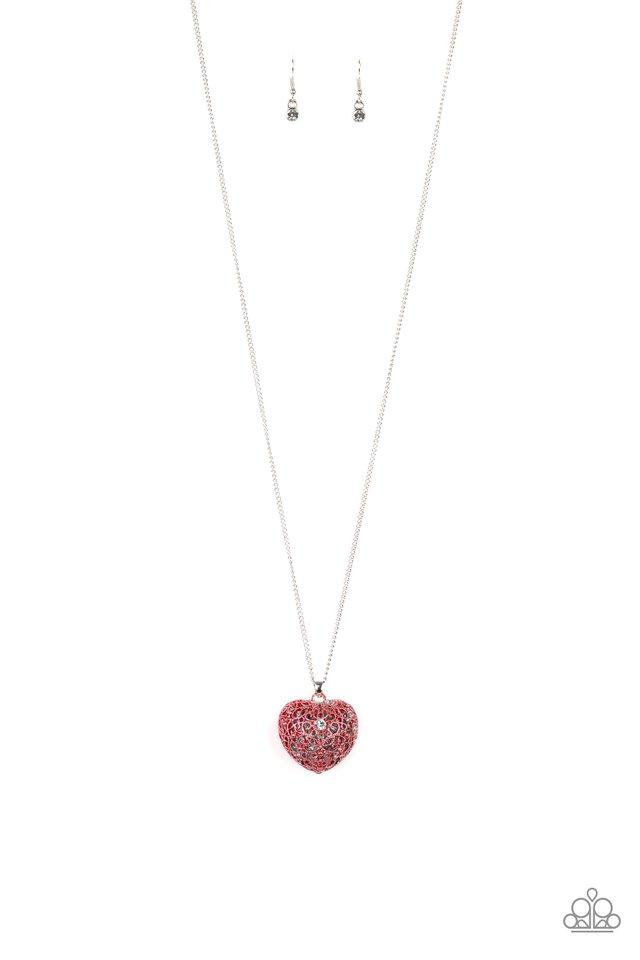 Paparazzi Necklace ~ Love Is All Around - Red