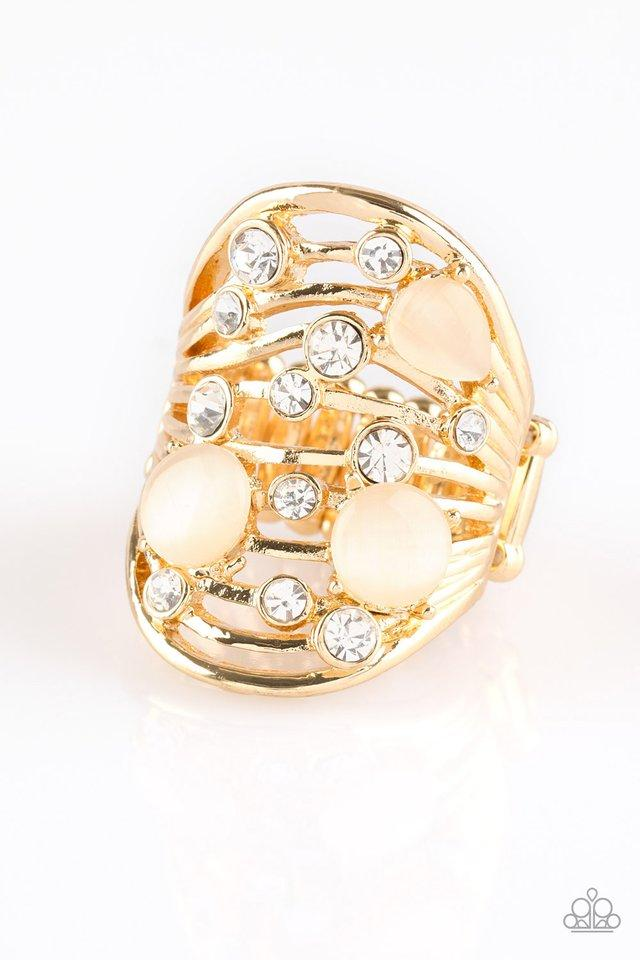 Paparazzi Ring ~ Clear The SWAY! - Gold