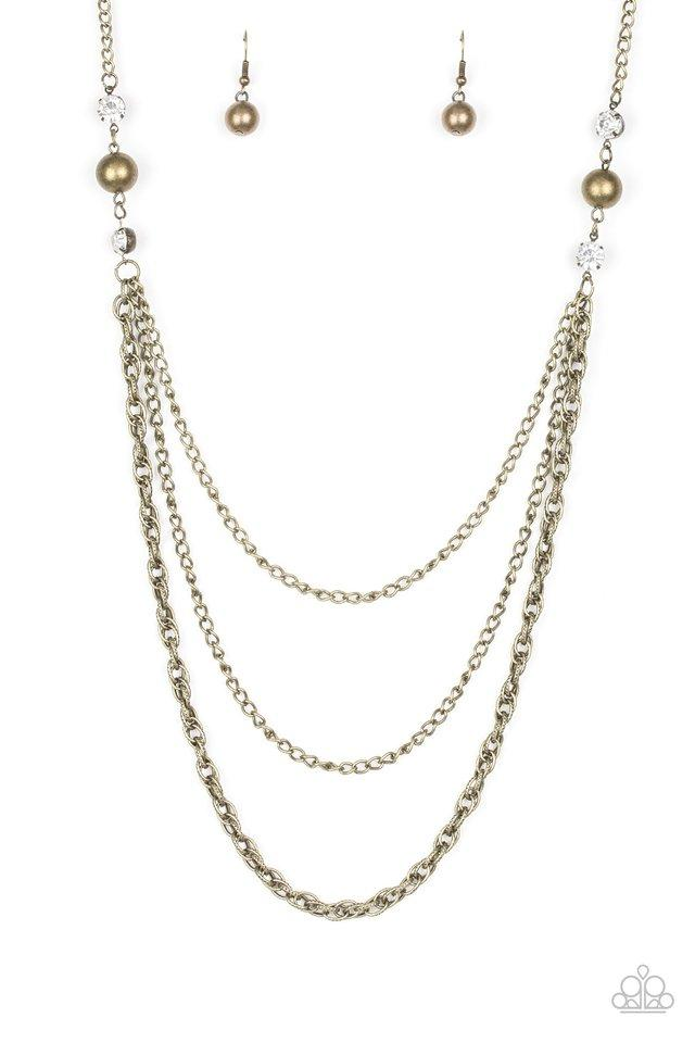 Paparazzi Necklace ~ RITZ It All - Brass