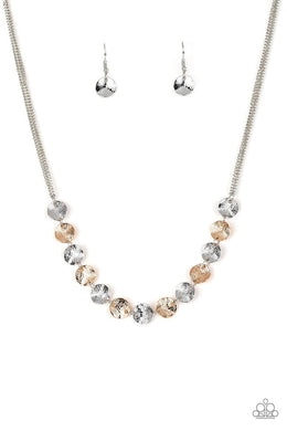 Simple Sheen - Silver - Paparazzi Necklace Image