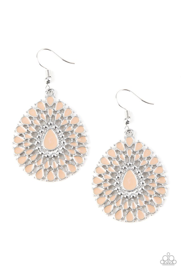 Paparazzi Earring ~ City Chateau - Brown