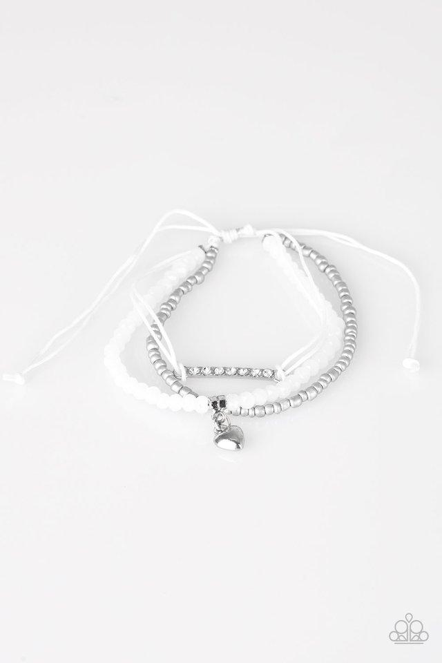 Paparazzi Accessories ~ Reckless Romance - White