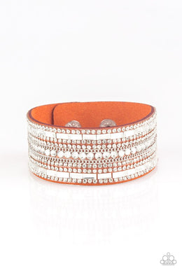 Rebel Radiance - Orange - Paparazzi Bracelet Image