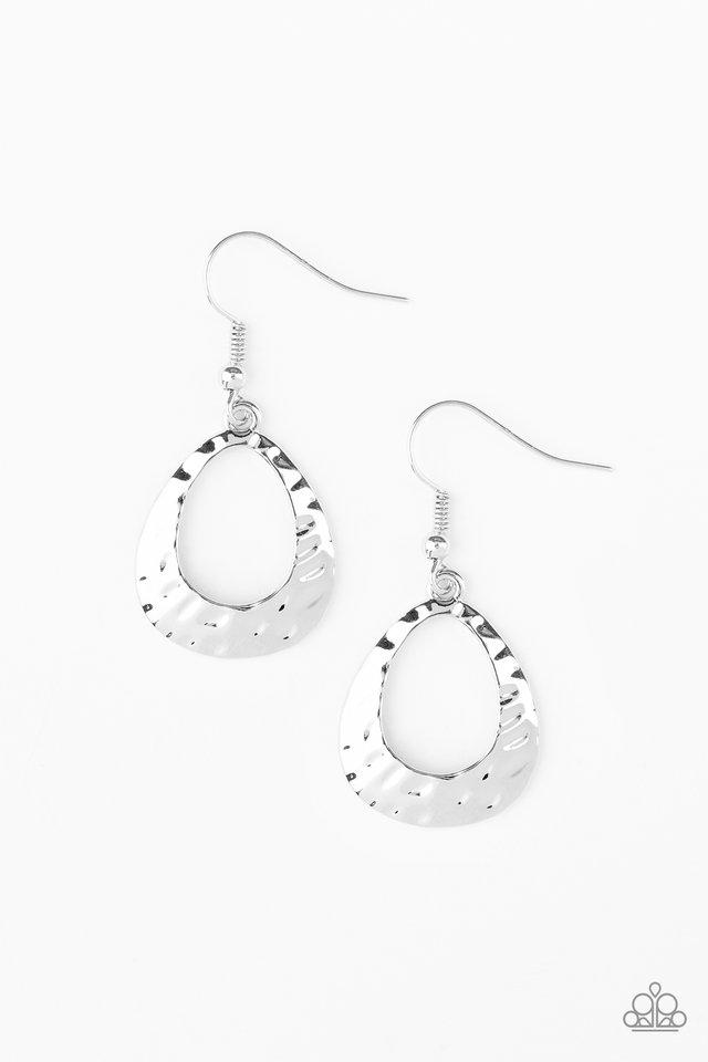 Paparazzi Earring ~ Radiantly Rugged - Silver