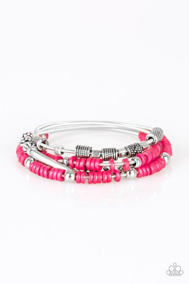 Paparazzi Accessories ~ Tribal Spunk - Pink