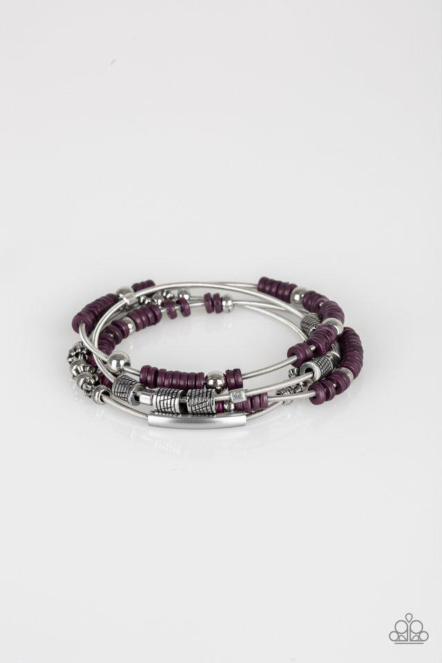 Paparazzi Accessories ~ Tribal Spunk - Purple