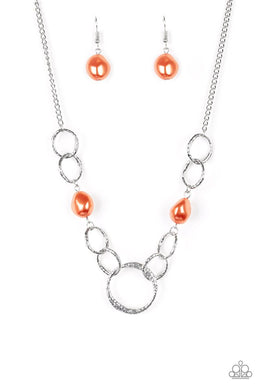 Lead Role - Orange - Paparazzi Necklace Image