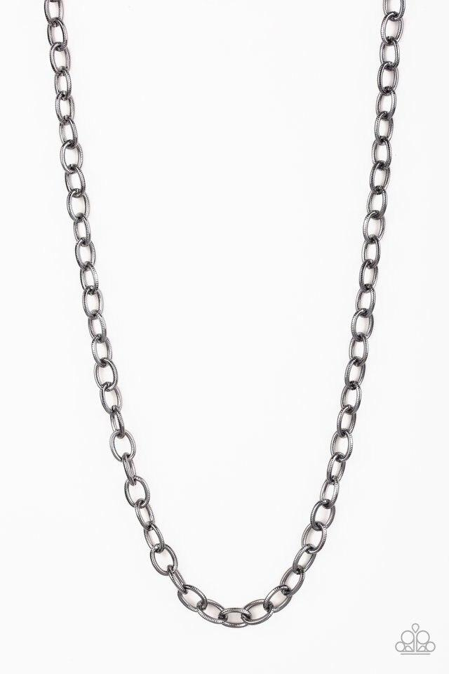 Men's Paparazzi Necklace ~ Courtside Seats - Black