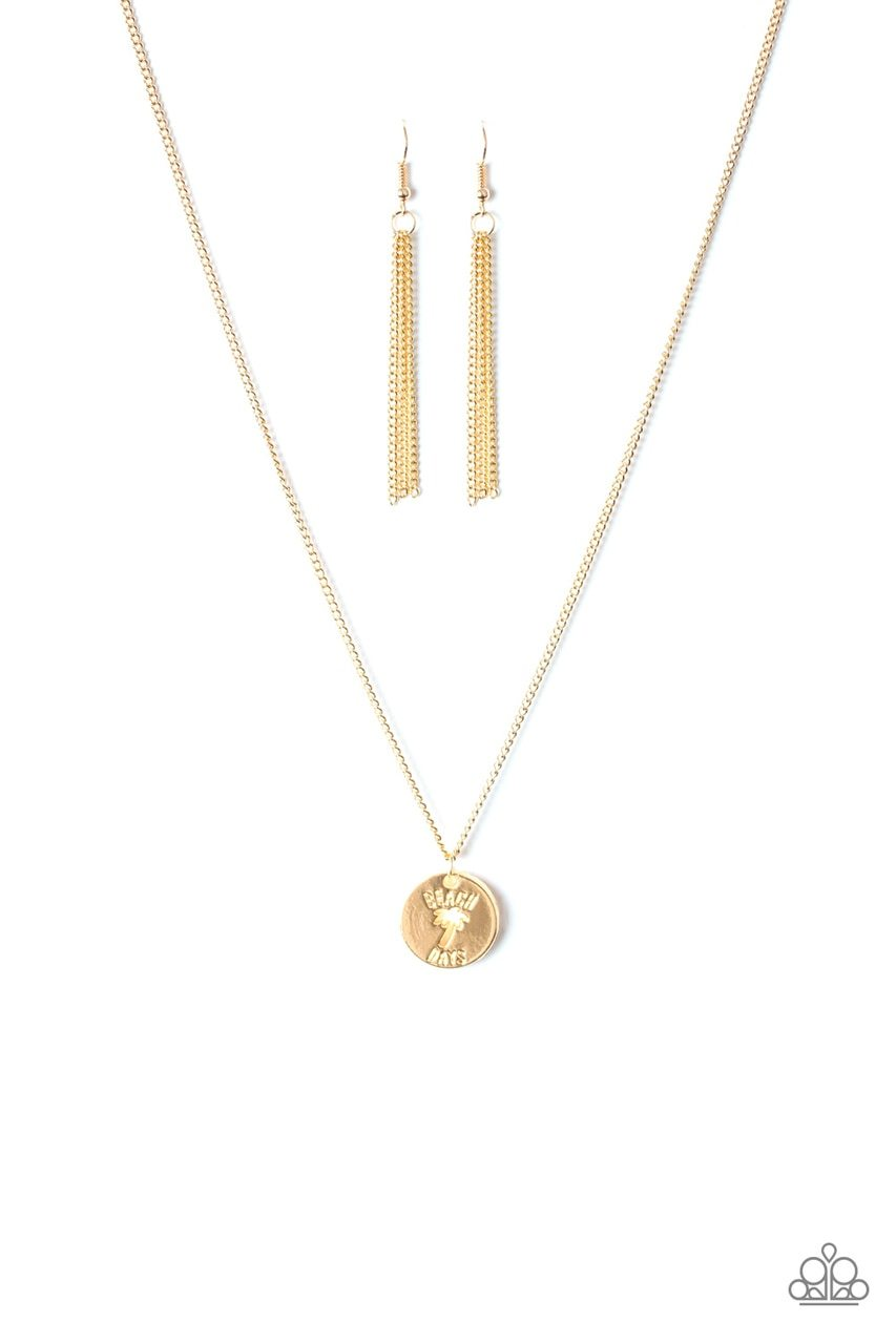 Paparazzi Necklace ~ Palm Tree Paradise - Gold