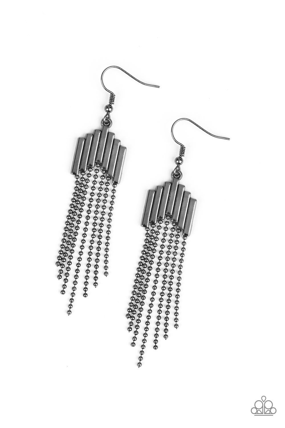 Paparazzi Earring ~ Radically Retro - Black