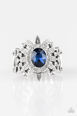 Burn Bright - Blue - Paparazzi Ring Image
