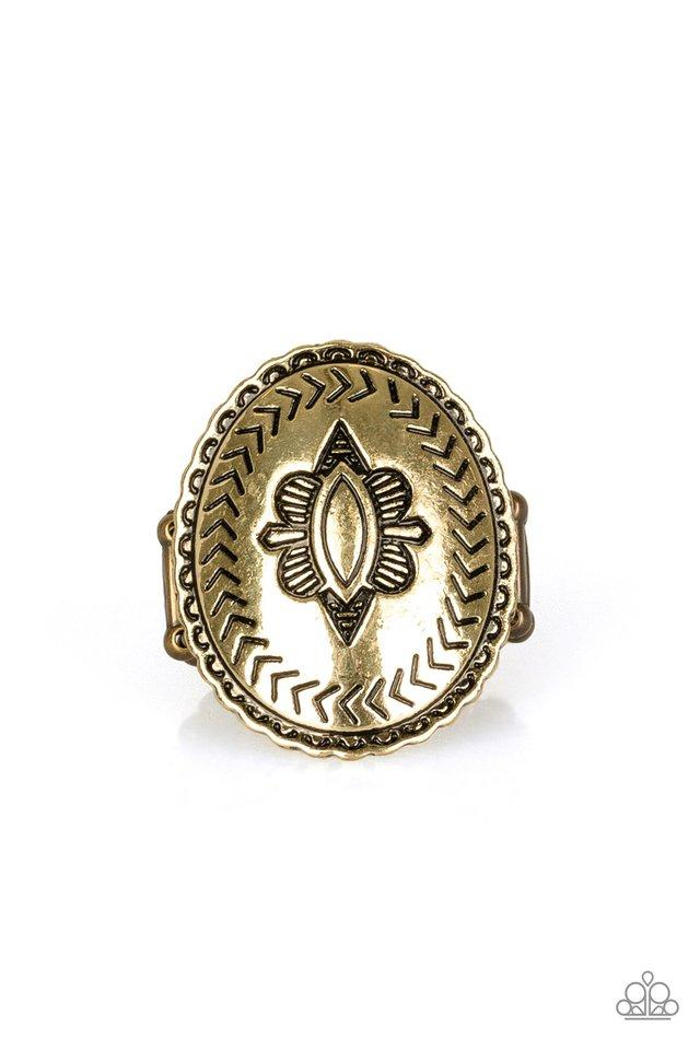 Paparazzi Ring ~ Down And Outback - Brass