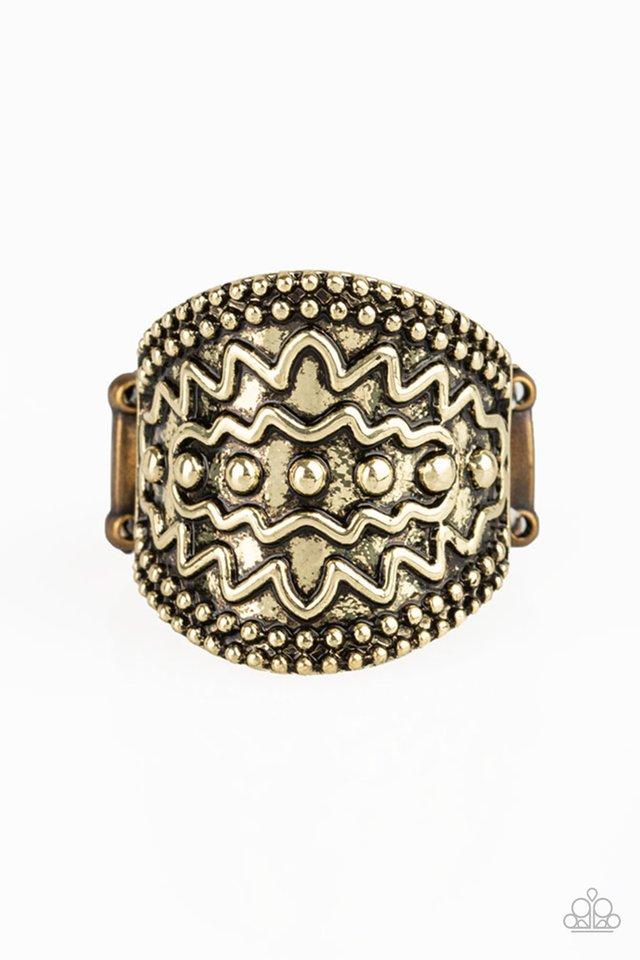 Paparazzi Ring ~ Island Rover - Brass