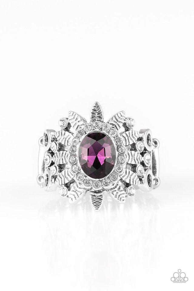 Paparazzi Ring ~ Burn Bright - Purple