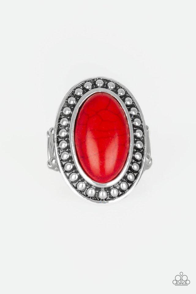 Paparazzi Ring ~ Desert Heat - Red