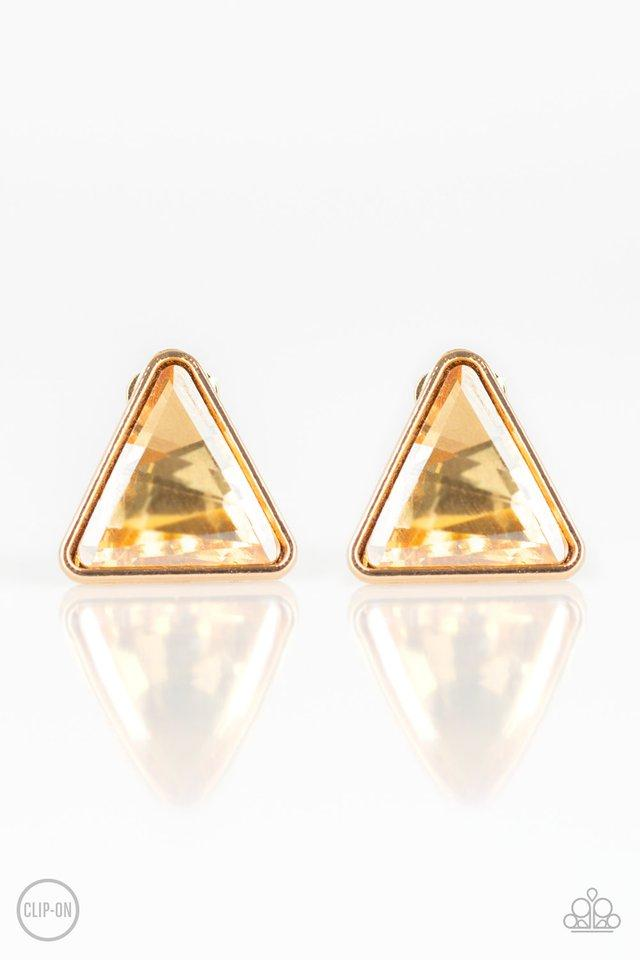 Paparazzi Accessories ~ Timeless In Triangles - Gold