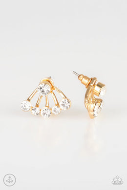 Jeweled Jubilee - Gold - Paparazzi Earring Image