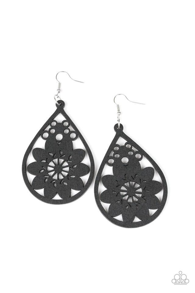 Paparazzi Accessories ~ Flower Power - Black