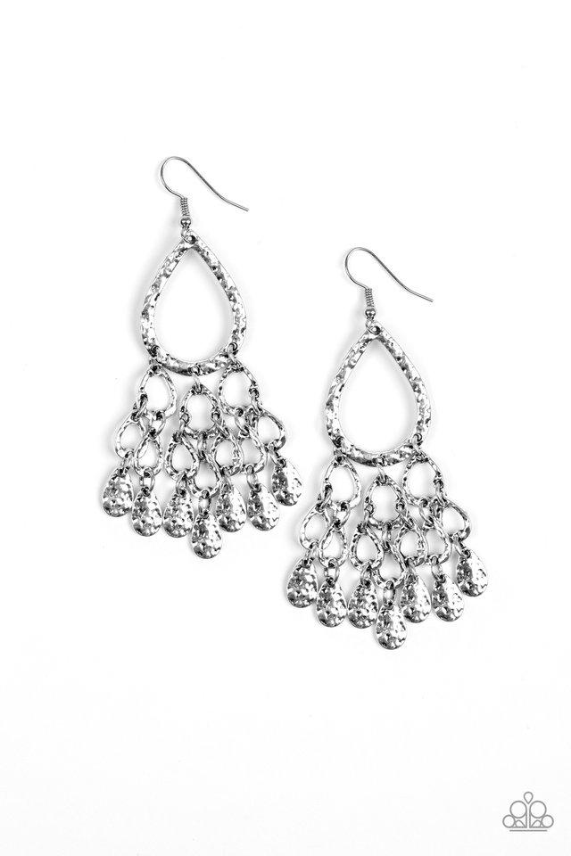Paparazzi Accessories ~ Teardrop Trinket - Silver