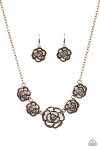 Paparazzi Necklace ~ Primrose Princess - Copper