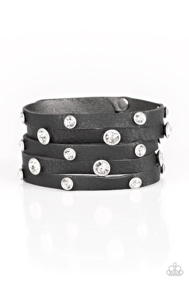 Paparazzi Bracelet ~ Rhinestone Reputation - Black