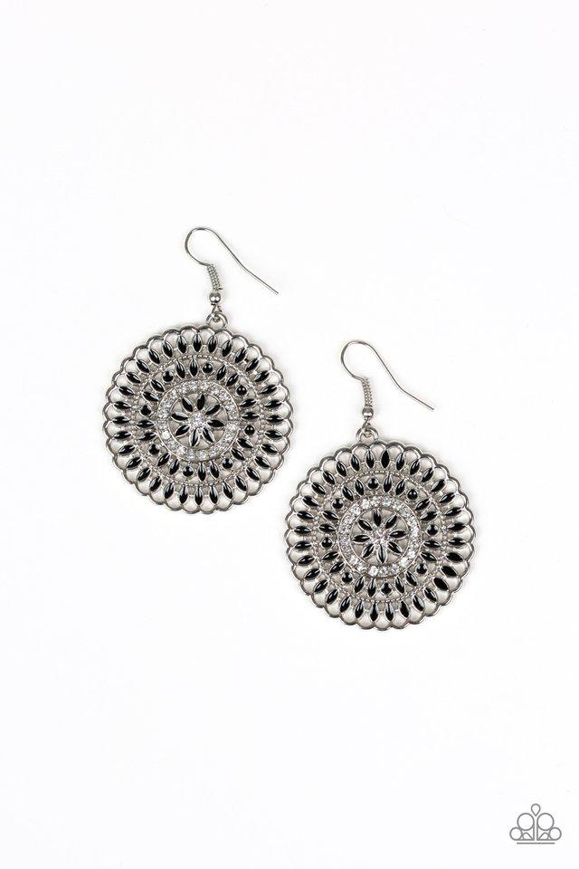 Paparazzi Earring ~ PINWHEEL and Deal - Black