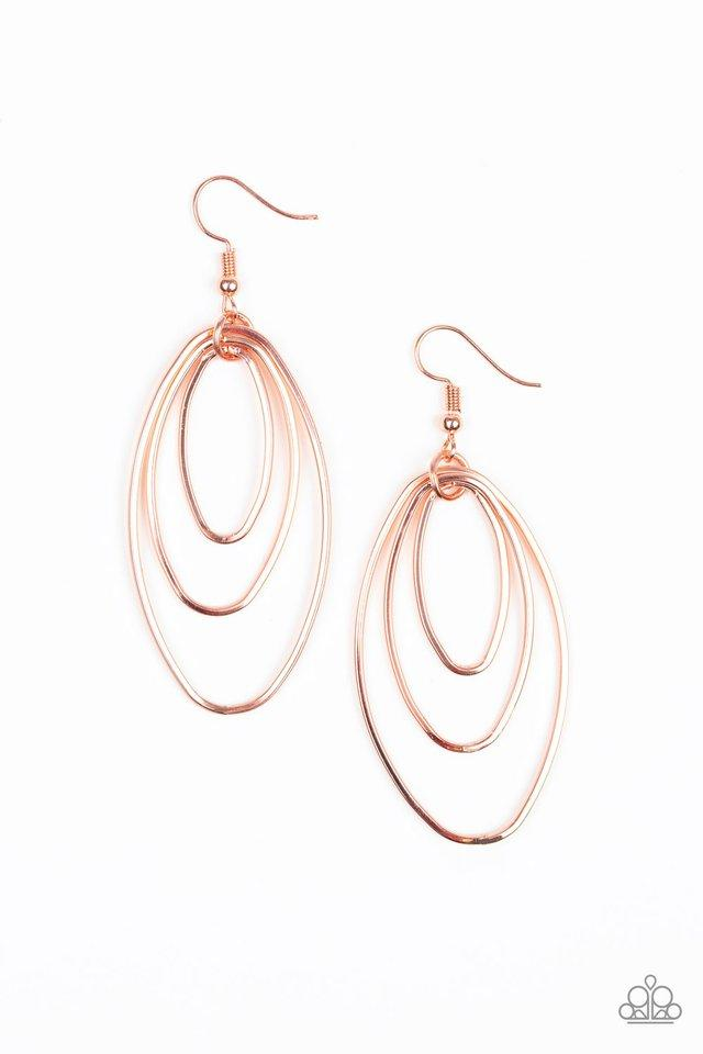 Paparazzi Accessories ~ All OVAL The Place - Copper