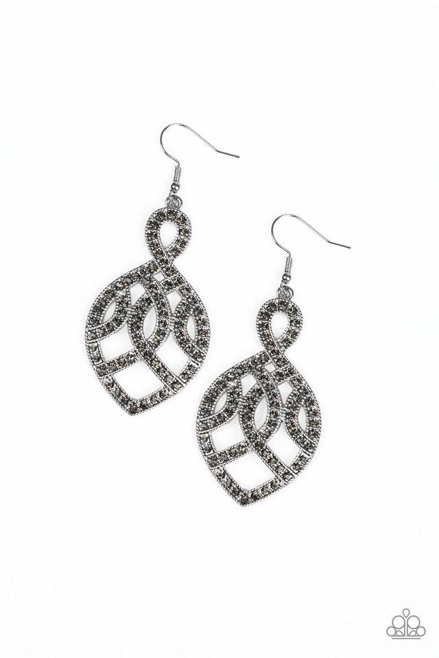 Paparazzi Earrings ~ A Grand Statement - Silver