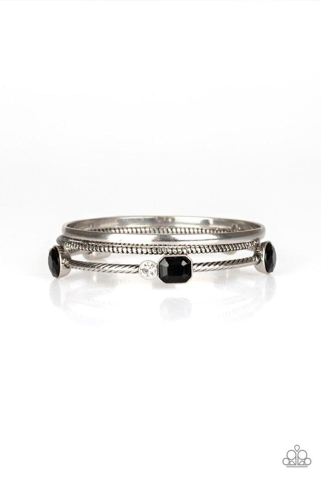 Paparazzi Bracelet ~ City Slicker Sleek - Black