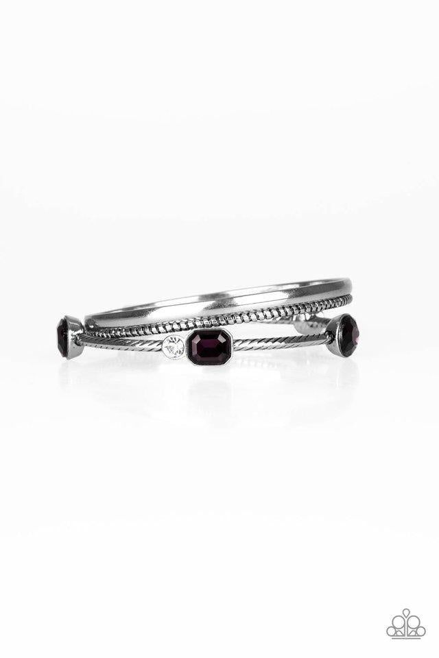 Paparazzi Bracelet ~ City Slicker Sleek - Purple
